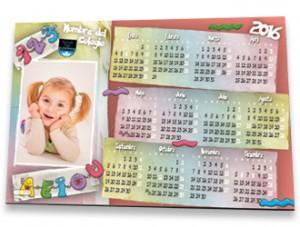Calendario imán fotoescuela